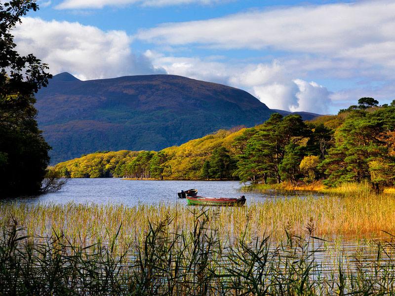 Open boat on Muckross Lake, Killarney
