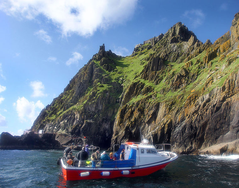A boat trip arriving at Skellig Michael