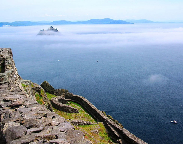 Little Skellig from the monastery on Skellig Michael